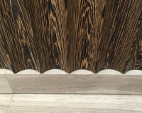 Kensington - Bleached Wenge Master Bathroom Scallop detail by SJL