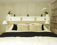 Ash Wardrobes and Headboard Storage by SJL